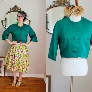 1960's Emerald Green Susan Swing Jacket